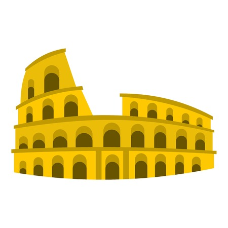 Coliseum icon. Flat illustration of coliseum vector icon for web Illustration