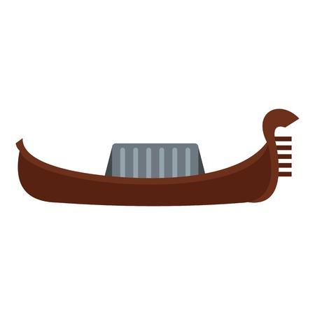 Gondola icon. Flat illustration of gondola vector icon for web Illustration