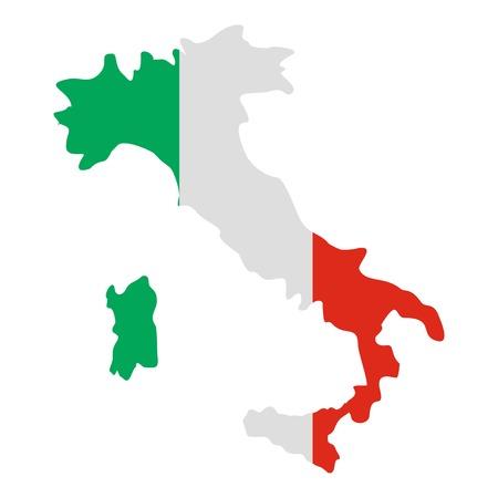 Italia icono del mapa. Ilustración plana de Italia icono de mapa vectorial para la web Vectores