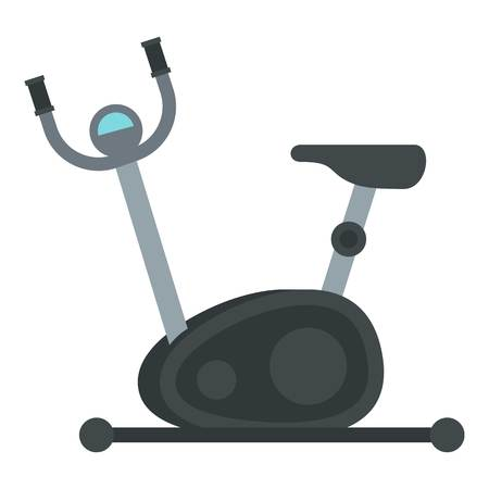 Exercise bike icon. Flat illustration of exercise bike vector icon for web