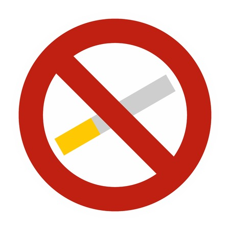 smoldering: No smoking icon. Flat illustration of no smoking vector icon for web Illustration