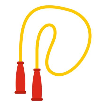 skip: Skipping rope icon. Flat illustration of skipping rope vector icon for web