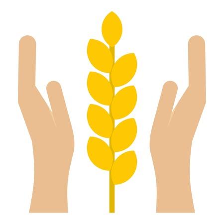 spica: Spica icon. Flat illustration of spica vector icon for web Illustration