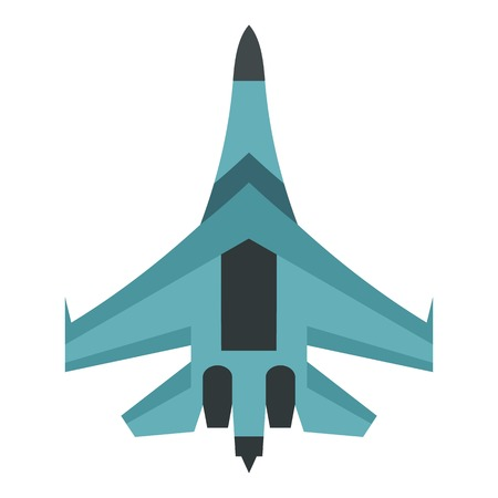 Quick military aircraft icon. Flat illustration of quick military aircraft vector icon for web