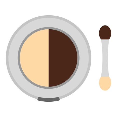 complexion: Round eye shadow icon. Flat illustration of round eye shadow vector icon for web