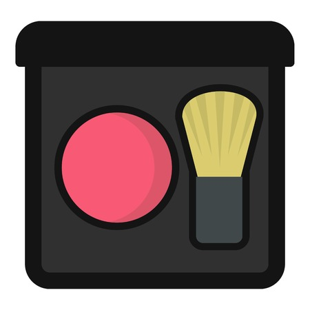 skin tones: Blush icon. Flat illustration of blush vector icon for web