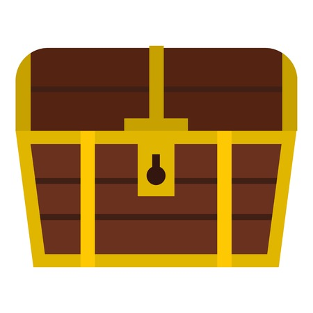 hoard: Chest icon. Flat illustration of chest vector icon for web