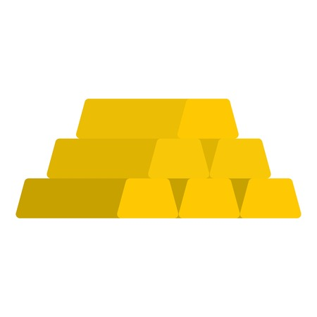 Gold bar icon. Flat illustration of gold bar vector icon for web Illustration