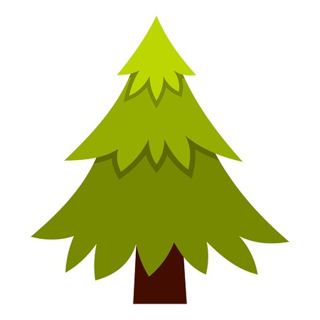 spruce: Spruce icon. Flat illustration of spruce vector icon for web Illustration