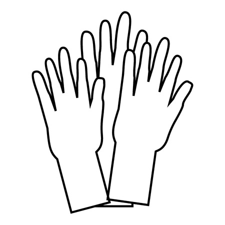 nationalities: Hands of people of different nationalities icon. Outline illustration of hands of people of different nationalities vector icon for web Illustration