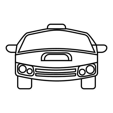 spoiler: Race car icon. Outline illustration of race car vector icon for web