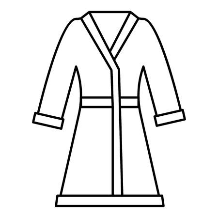 housecoat: Bathrobe icon. Outline illustration of bathrobe vector icon for web