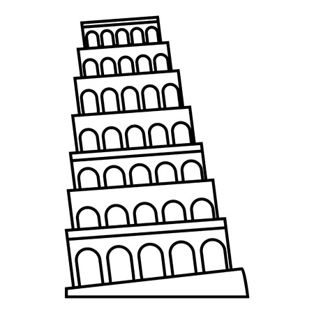 leaning tower of pisa: Leaning tower of Pisa icon. Outline illustration of leaning tower of Pisa vector icon for web