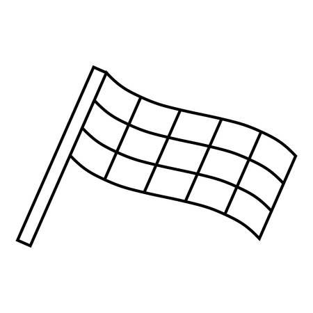 Racing flag icon. Outline illustration of racing flag vector icon for web