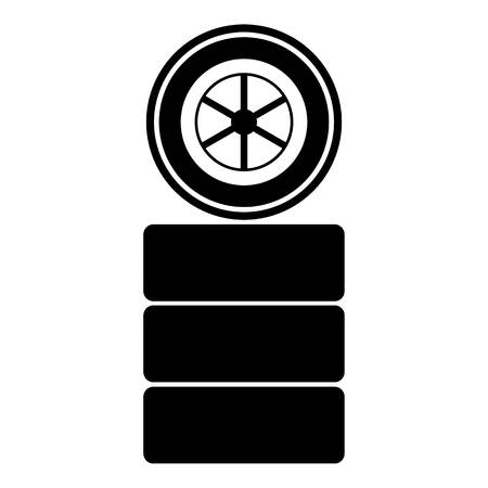 racing wheel: Racing wheel icon. Simple illustration of racing wheel vector icon for web