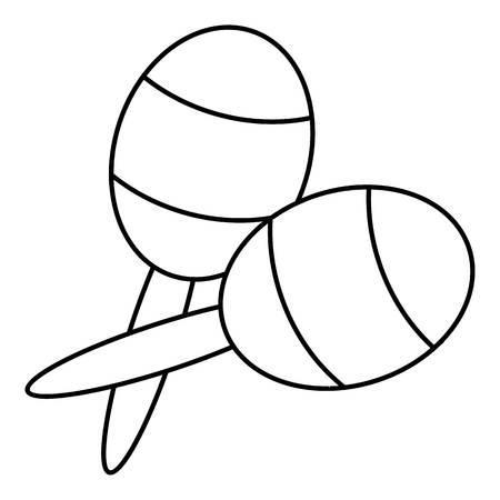 Maracas icon. Outline illustration of maracas vector icon for web Illustration