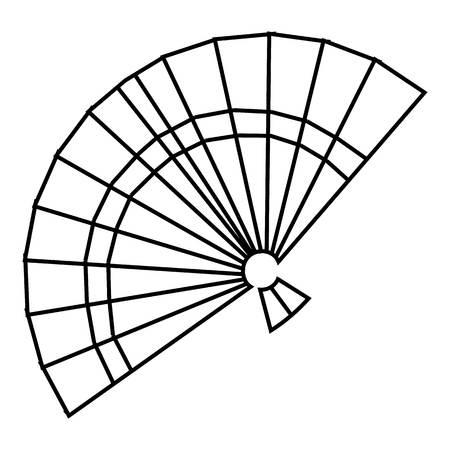 Fan icon. Outline illustration of fan vector icon for web Illustration