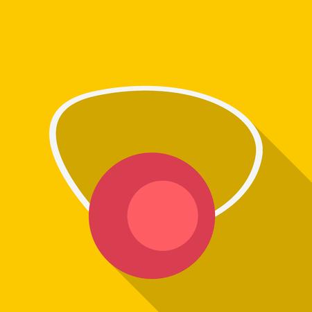 jest: Clown nose icon. Flat illustration of clown nose vector icon for web Illustration
