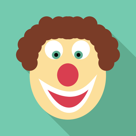 jest: Clown icon. Flat illustration of clown vector icon for web Illustration