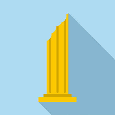 doric: Column icon. Flat illustration of column vector icon for web Illustration