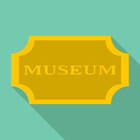 Sign museum icon. Flat illustration of sign museum vector icon for web