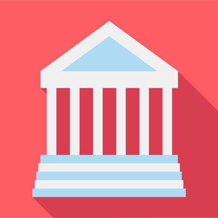 doric: Colonnade icon. Flat illustration of colonnade vector icon for web