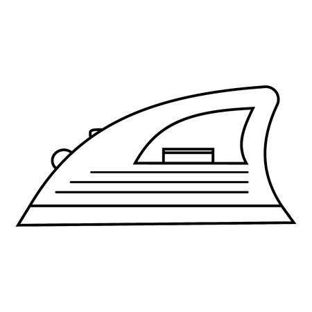 steam iron: Iron icon. Outline illustration of iron vector icon for web Illustration