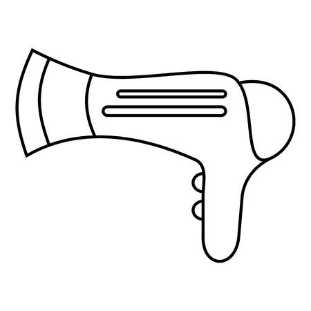 hairdryer: Hairdryer icon. Outline illustration of hairdryer vector icon for web Illustration