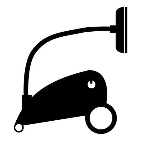 vac: Vacuum cleaner icon. Simple illustration of vacuum cleaner vector icon for web Illustration