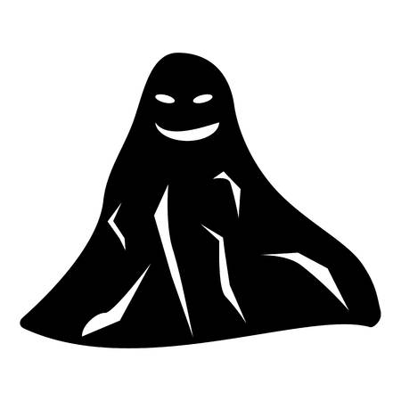Ghost icon. Simple illustration of ghost vector icon for web Illusztráció