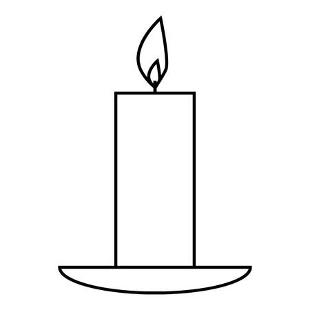 Candle icon. Outline illustration of candle vector icon for web Illusztráció