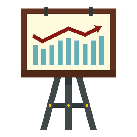 bargraph: Graphic icon. Flat illustration of graphic vector icon for web Illustration