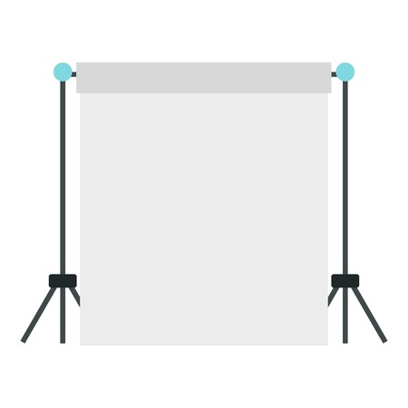 flat screen: Screen icon. Flat illustration of screen vector icon for web