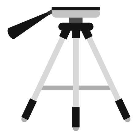 Tripod icon. Flat illustration of tripod vector icon for web