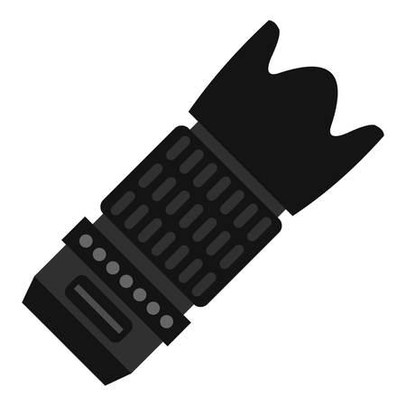 Icône de l'objectif long. Plate illustration de longue icône de vecteur objectif pour le web Vecteurs