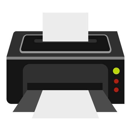 scaner: Printer icon. Flat illustration of printer vector icon for web
