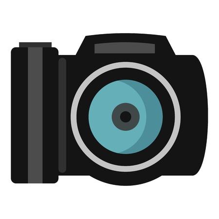 photocamera: Photocamera icon. Flat illustration of photocamera vector icon for web Illustration