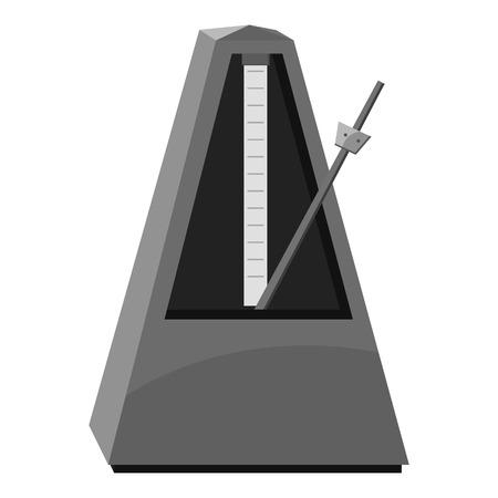 tact: Metronome icon. Gray monochrome illustration of metronome vector icon for web
