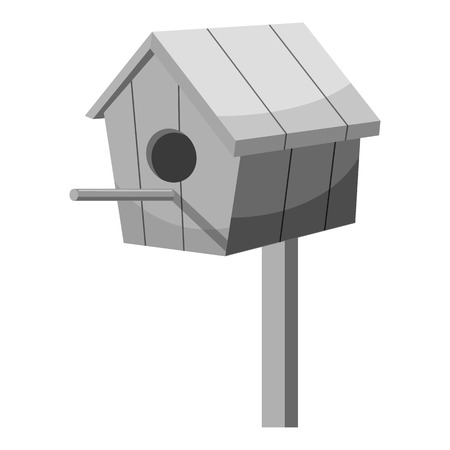 nesting box: Nesting box icon. Gray monochrome illustration of nesting box vector icon for web