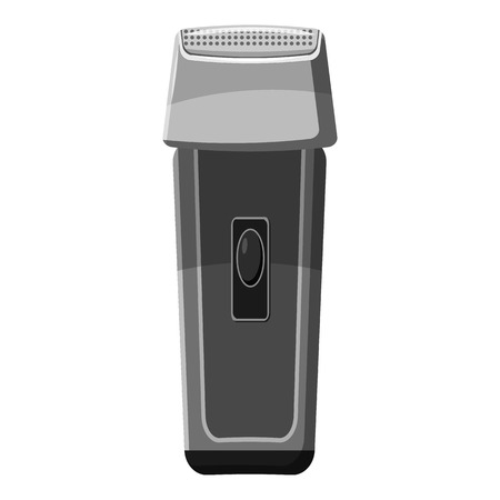 clipper: Hair clipper icon. Gray monochrome illustration of hair clipper vector icon for web