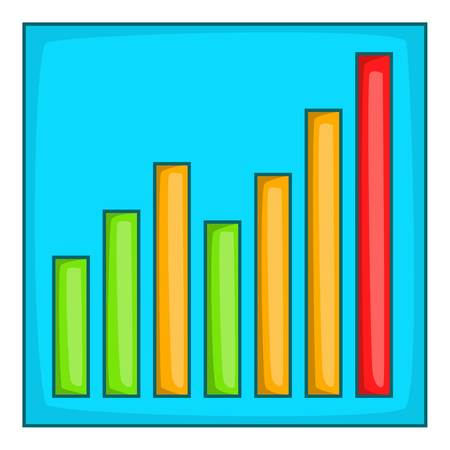 Chart graph icon. Cartoon illustration of chart graph vector icon for web design