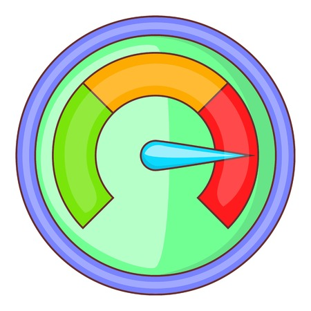 full time: Speedometer icon. Cartoon illustration of speedometer vector icon for web design Illustration