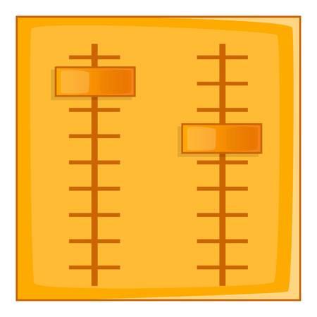 potentiometer: Sliders icon. Cartoon illustration of sliders vector icon for web design Illustration