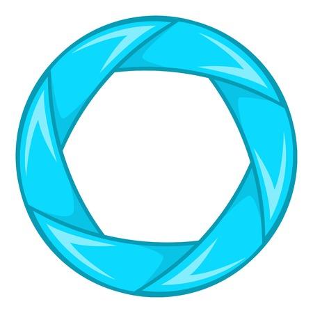 Blue shutter icon. Cartoon illustration of shutter vector icon for web design Illustration