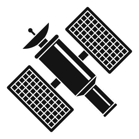 Ikona satelity kosmicznego. Prosta ilustracja astronautyczna satelitarna wektorowa ikona dla sieci