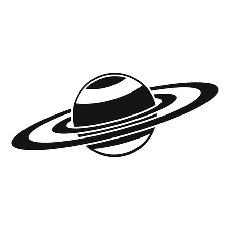 saturn rings: Saturn rings icon. Simple illustration of Saturn rings vector icon for web