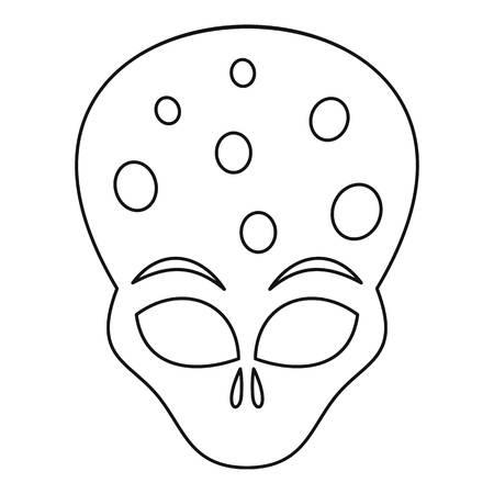 ufology: Alien icon. Outline illustration of alien vector icon for web