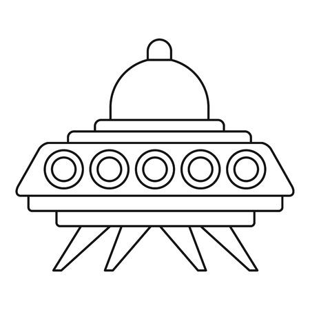 space invader: Ufo flying saucer icon. Outline illustration of ufo flying saucer vector icon for web Illustration