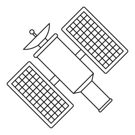 Satelite icon. Outline illustration of satelite vector icon for web Illustration