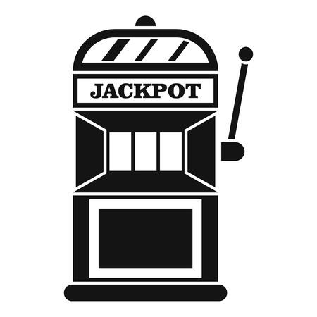 Gamble machine icon. Simple illustration of gamble machine vector icon for web 向量圖像